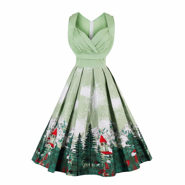 9a88d473afbfc Fashion Women Summer Dress Retro 1950s 60s Vintage Dresses dress Audrey Hepburn  Plus Size Rockabilly Sexy Swing Party Dresses