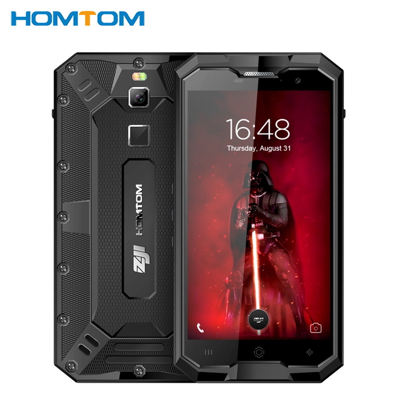HOMTOM ZOJI Z8 IP68 Waterproof Cell Phone 5.0 4GB RAM 64GB ROM MTK6750 Octa Core Android7.0 4250mAh 16MP Fingerprint Smartphone