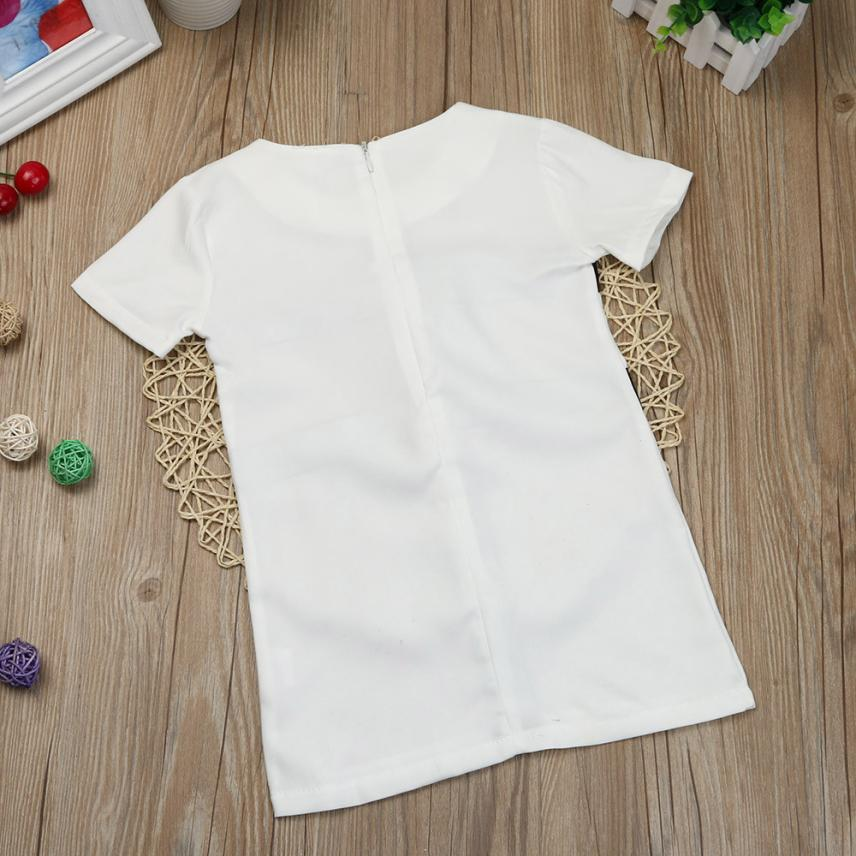 2018 cute Mommy & Me Toddler Girl Bow tie skirt parents wear daughter Short Sleeve Tops T Shirt Dress Outfit P30 baby clothes