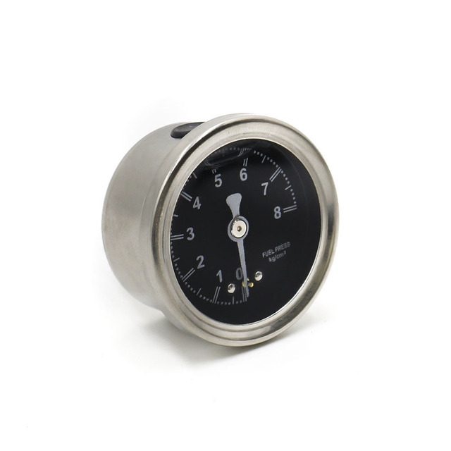 CNSPEED aluminum silver Fuel Pressure Regulator Black face color meter with 1/8 NPT Indicator Control oil car meter XS100491