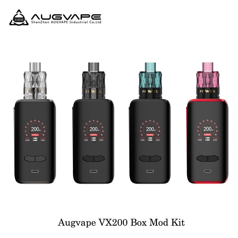 Cigarette électronique Augvape VX200 200 W boîte de tc kit mod mod box Par Double 18650 Batterie 3 pièces Jewel Subohm Réservoir Vaporisateur Vaporisateur