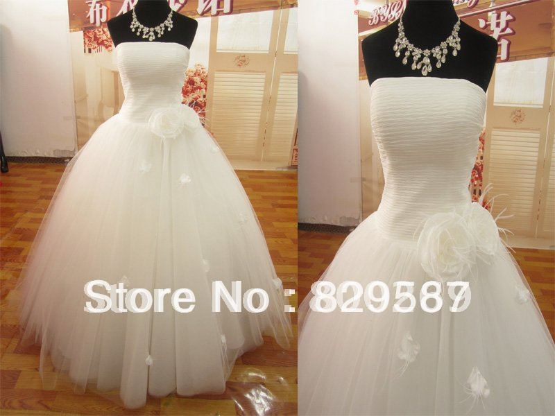 Ruffle Ball Gown Wedding Dress: 2013 In Stock US Size6 Cheap Tulle Ball Gown Ruffles