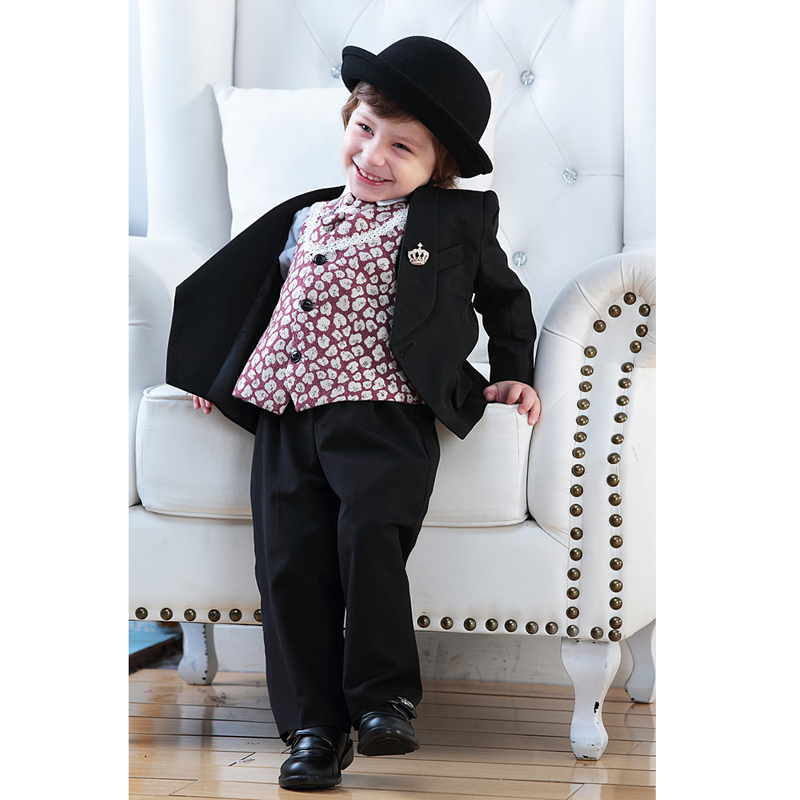2017 Baby Boys Wedding Suit Formal Clothes Kids Suits jacket+ Pants Infant1-4Year Gentleman Clothing set