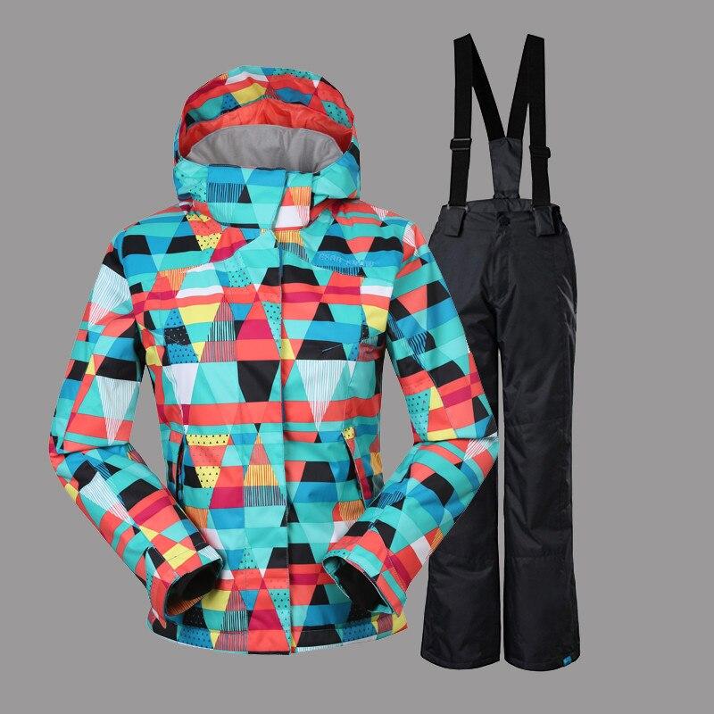 Invierno Ropa Niñas Traje de Esquí a prueba de Viento Impermeable de Esquí de Ni