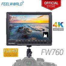 Feelworld FW760 moniteur de caméra HDMI 7 pouces IPS Full HD 1920x1200 4 K pour appareil photo reflex numérique avec aide à la mise au point