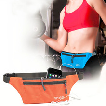 New Unisex Pocket Sling Bag Sports Running Travel Security Waist Bum Bags free shipping
