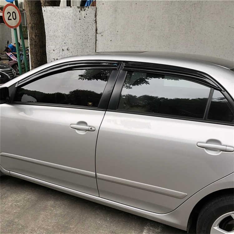 עבור טויוטה קורולה פלסטיק חלון Visor Vent גווני שמש גשם הטית אביזרי רכב 4 יח'\סט משמר עבור קורולה 2006-2013