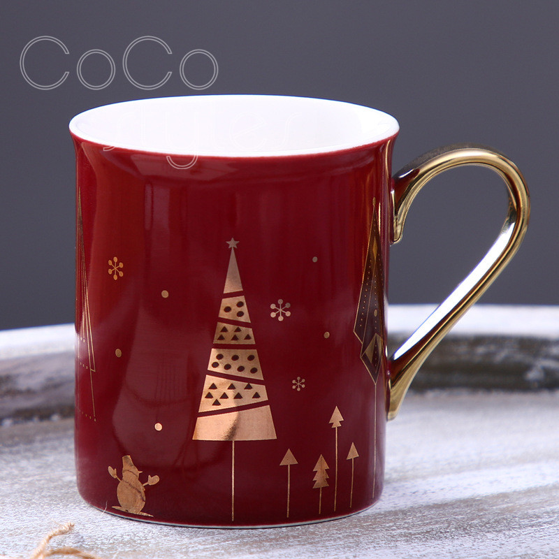 Cocostyles InsFashion creative ceramic mugs with handle for modern home decor