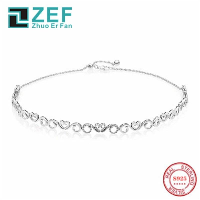 Ожерелье из стерлингового серебра 925 пробы TIF pan, классическая элегантность, роскошные и оригинальные ювелирные изделия