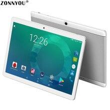 """Обновленная версия 10,"""" планшетный ПК Android 7,0 3G Вызов Восьмиядерный 4 Гб 64 Гб rom Встроенный 3G Bluetooth Wifi gps HD ips планшеты PC10/1"""