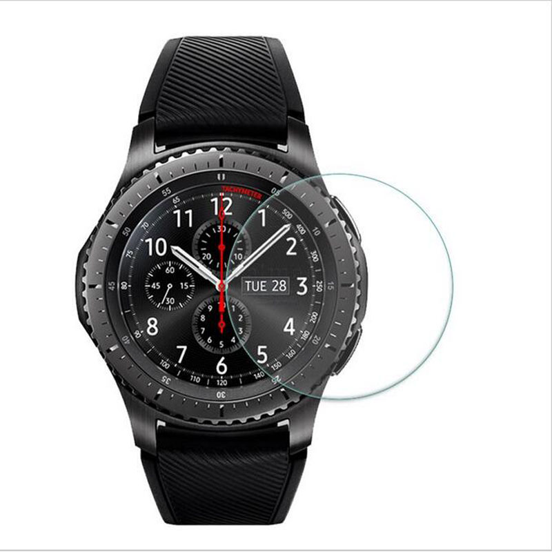 Ultra thin Clear Tempered Glass Protective Film For Samsung Gear S3 Classic/Frontier Smart Watch Display Screen Protector Cover 0 2mm ultra thin tempered glass clear screen protector for samsung galaxy note 4 transparent