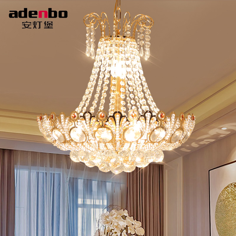 Modern Gold Ceiling Chandelier Fixtures LED Crystal Chandeliers Lights 50cm  For Dining Room Lighting (ADB931) In Chandeliers From Lights U0026 Lighting On  ...