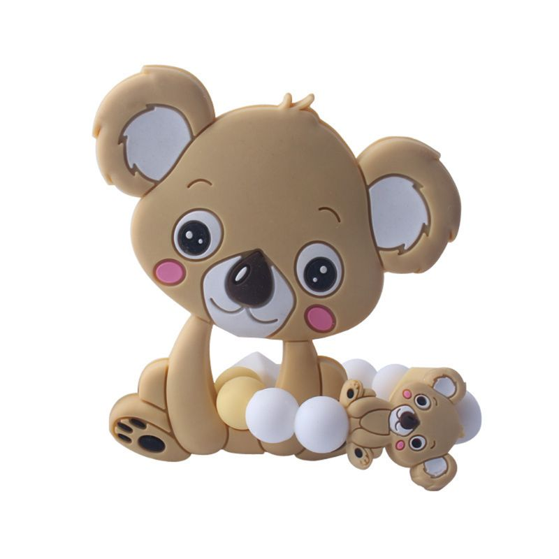 Купить с кэшбэком 1 Set Child Baby Pacifier Teether Bracelet Soothing Boys Girls Cute Koala Colorful Design Kids Comfort Supplies