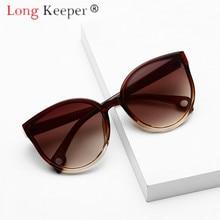 Gafas de sol LongKeeper, gafas de sol para hombre y mujer, gafas de sol, gafas de plástico con montura transparente, lentes UV400, sombra, moda de conducción, novedad