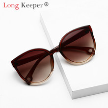 LongKeeper Sunglasses Cat Eye Women Men Sun Glasses Eyewear