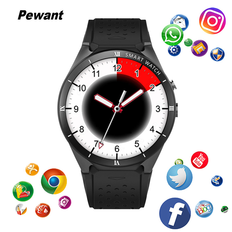 Pewant KW88 PRO Smart Watch 3G GPS WIFI With Camera Smartwatch 1GB RAM 16GB ROM SIM Card Android 7.0 Smart Watch For iOS Android цена