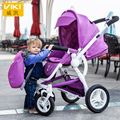 Bidirectional High Landscape Aluminum Alloy Baby Strollers 4-wheel Suspension Children Trolley Portable Infant buggy pram