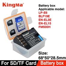 KingMa 5PCS LP E6 battery Box for LP E6 EN EL15 EN EL3E BP511 BLF19 D LI90 BLG10 EN EL14 LP E8 LP E5 BLS5/1 D Li109 EN EL5 BLC12