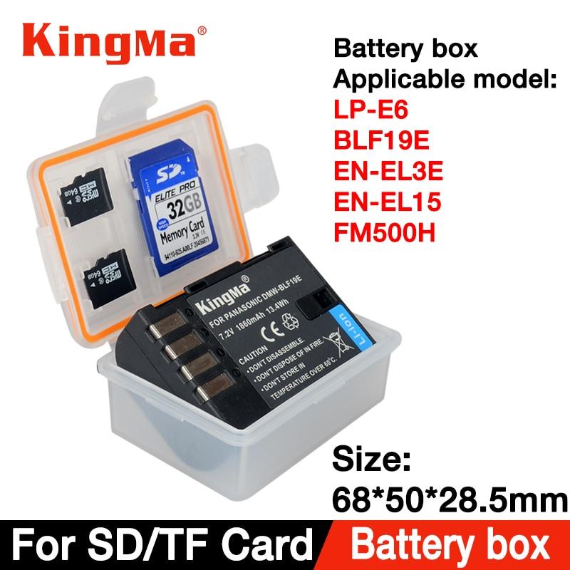KingMa 5PCS LP E6 battery Box for LP-E6 EN-EL15 EN-EL3E BP511 BLF19 D-LI90 BLG10 EN-EL14 LP-E8 LP-E5 BLS5/1 D-Li109 EN-EL5 BLC12