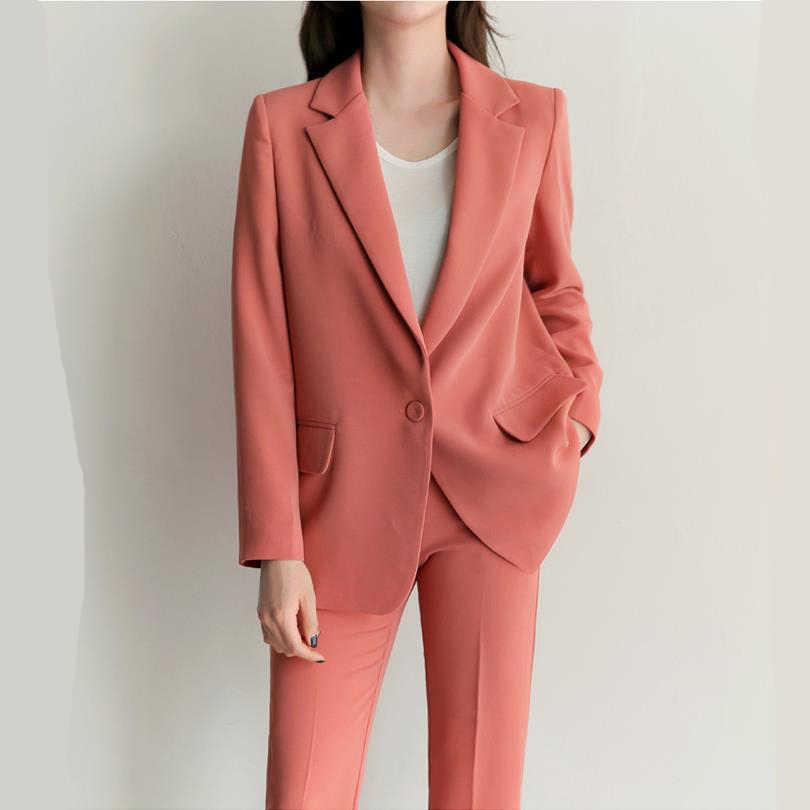 ファッションスーツスーツ2018春韓国ファッション小香カジュアル薄いスーツジャケットナインパンツ二組のジャケット+パンツ