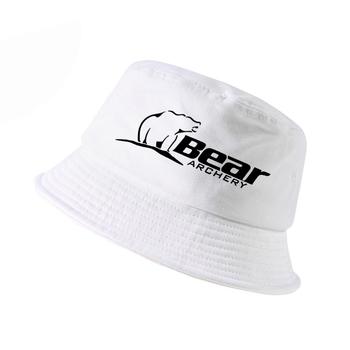 Niedźwiedź łucznictwo fajne kapelusz na lato moda mężczyźni kobiety wiadro kapelusz na zewnątrz łowić ryby panama rybak cap płaskie kapelusze tanie i dobre opinie FYDTQZYHY COTTON Unisex Dla dorosłych Mieszkanie as4885 Wiadro kapelusze Cartoon Na co dzień