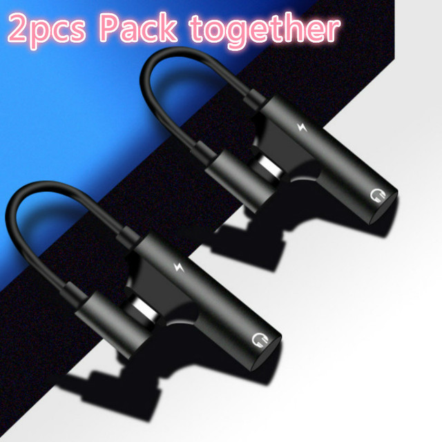 2pcs pack USB C to Headphone Jack Adapter Type C 3.5mm Audio and Charging Converter Compatible with xiaomi Huawei type C device