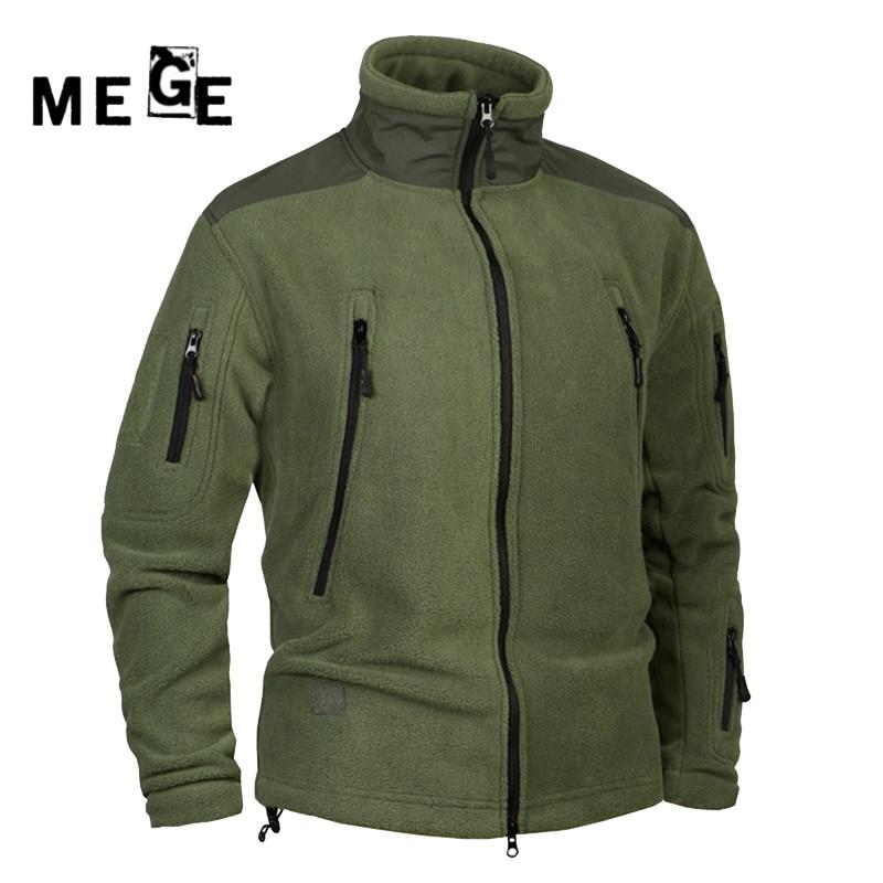 MEGE Männer Jacken Fleece Thermo Mantel Herbst Winter Kleidung, herren Jagd Camping Wandern Armee Training Sportbekleidung Jacken