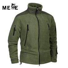 MEGE Men Jackets Fleece Thermal Coat Autumn Winter Clothing , Men's Hunting Camping Hiking Army Training Sportswear Jackets