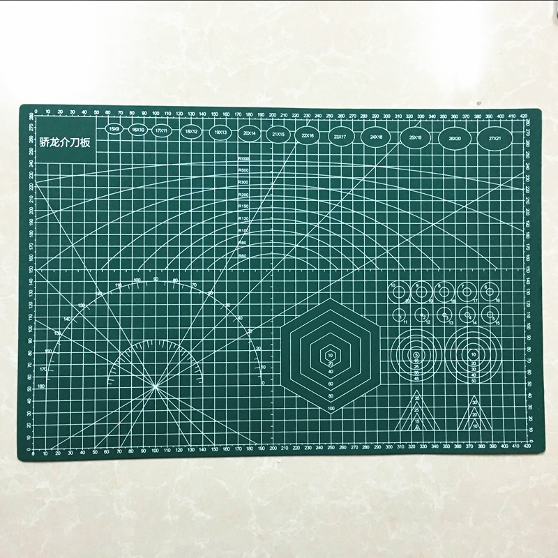 PVC Cutting Mat A3 45*30cm  Durable Self Healing Handmade DIY Quilting Accessories Flexible Green Patchwork Board Plotter a2 mint green pvc cutting mat self healing cutting mat patchwork tools craft cutting board cutting mats for quilting