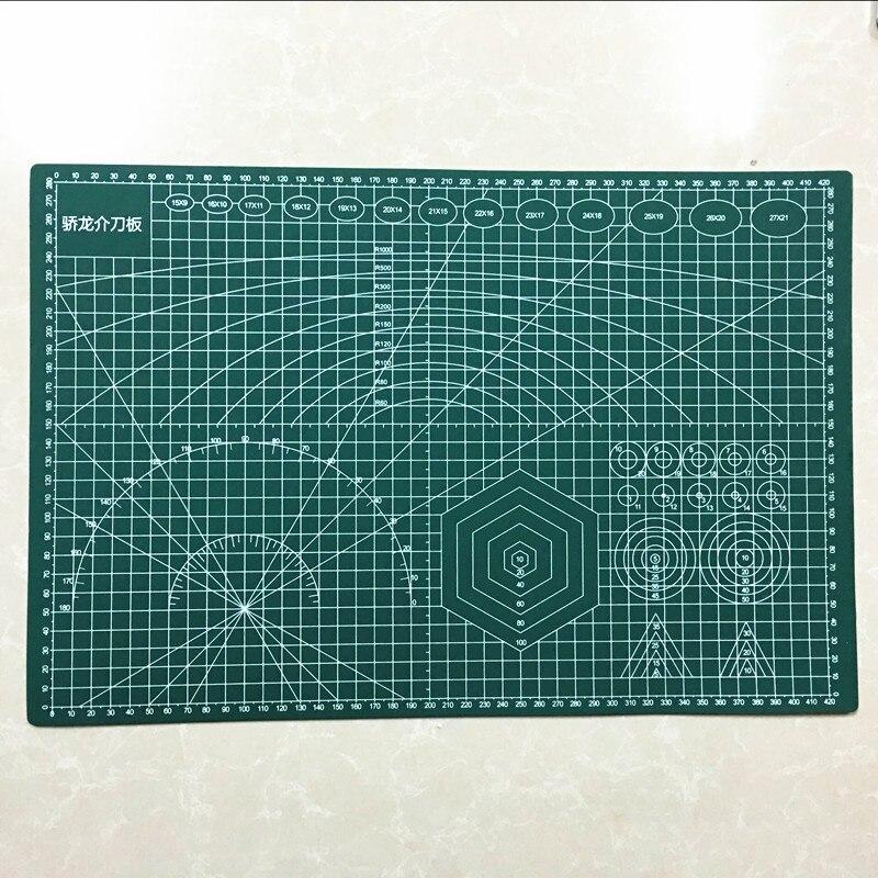 PVC Cutting Mat A3 45*30cm  Durable Self Healing Handmade DIY Quilting Accessories Flexible Green Patchwork Board Plotter