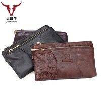 Genuine Leather Wallet Luxury Men Wallets Casual Male Clutch Brand Leather Wallet Men Purse Multifunction Money