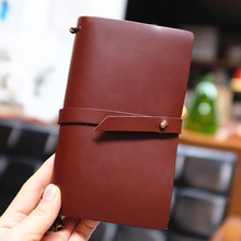 Endless Story M Medium Real Genuine Cowhide Leather Travel Journal Business Notebook Study Diary Blank Lined Grid Papers