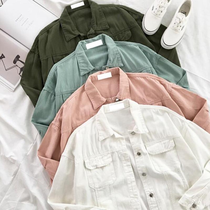 SEDUTMO Spring Denim Jacket Women Boyfriend Jean Coat Streetwear Harajuku Vintage Candy Jackets Autumn Casual Outerwear ED194 1