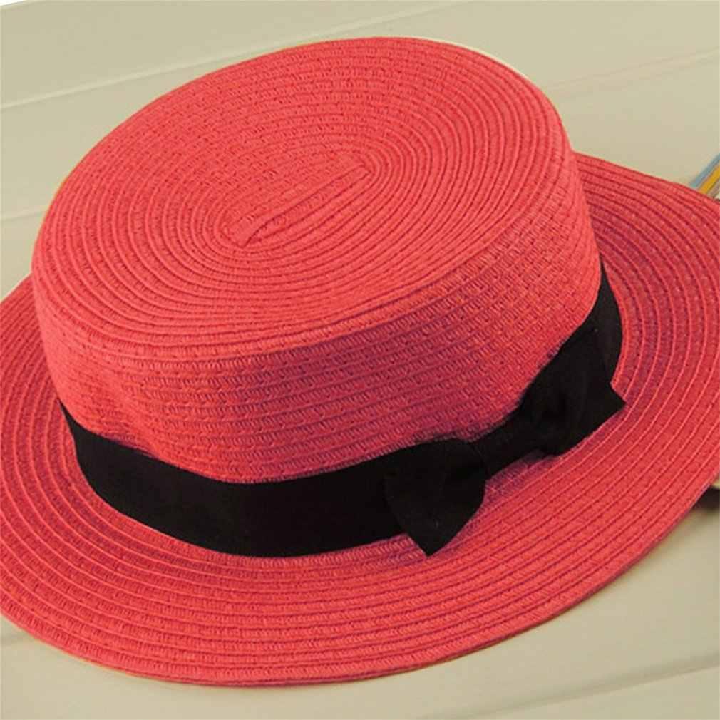 44a13d829d5 ... Parent-child Summer Hat 13 Color Women Children Beach Holiday Hat Sun  Straw Femal Sunscreen