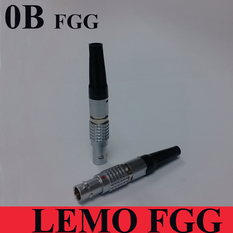 LEMO Connector FGG 0B  2 3 4 5 6 7 9 Pin Connector LEMO 0B Male FGG Plug For SOUND DEVICES ZAXCOM DENECKE TIME CODE