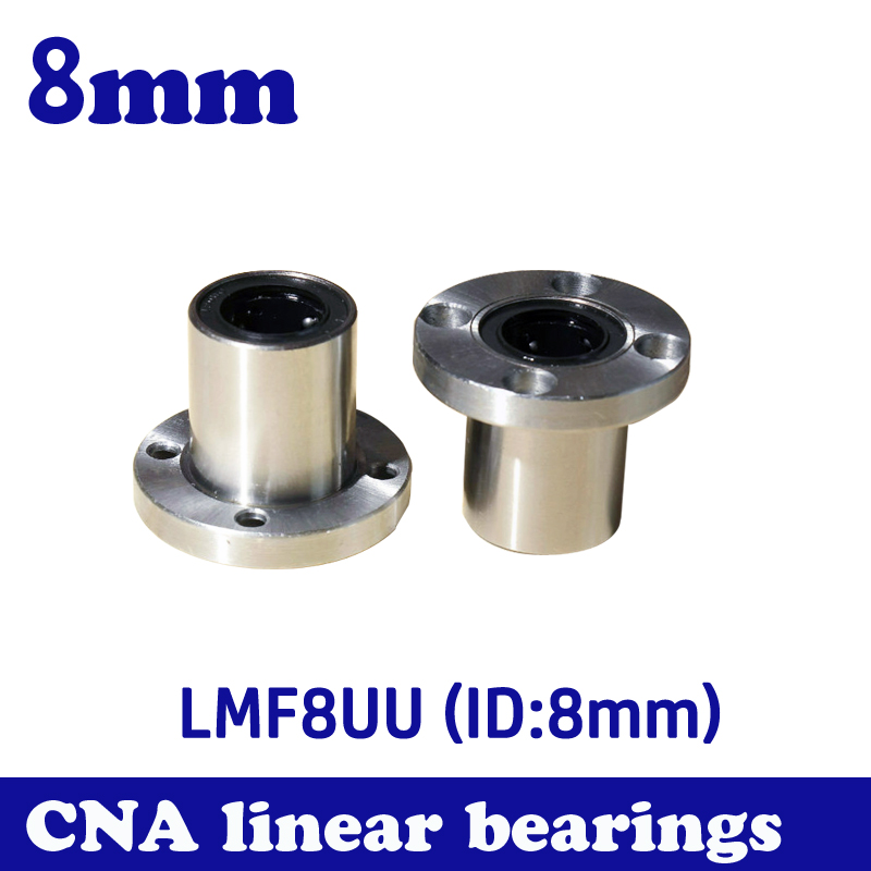 Hot sale 1pc LMF8UU 8mm flange linear ball bearing for 8mm linear shaft CNC 2017 hot 1pcs 63sn 37pb flux 1 8