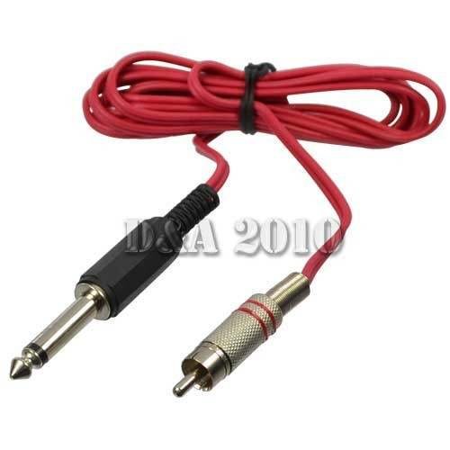 High Quality 6 feet 1 8m Red Durable Standard RCA Clip Cord Plug For font b