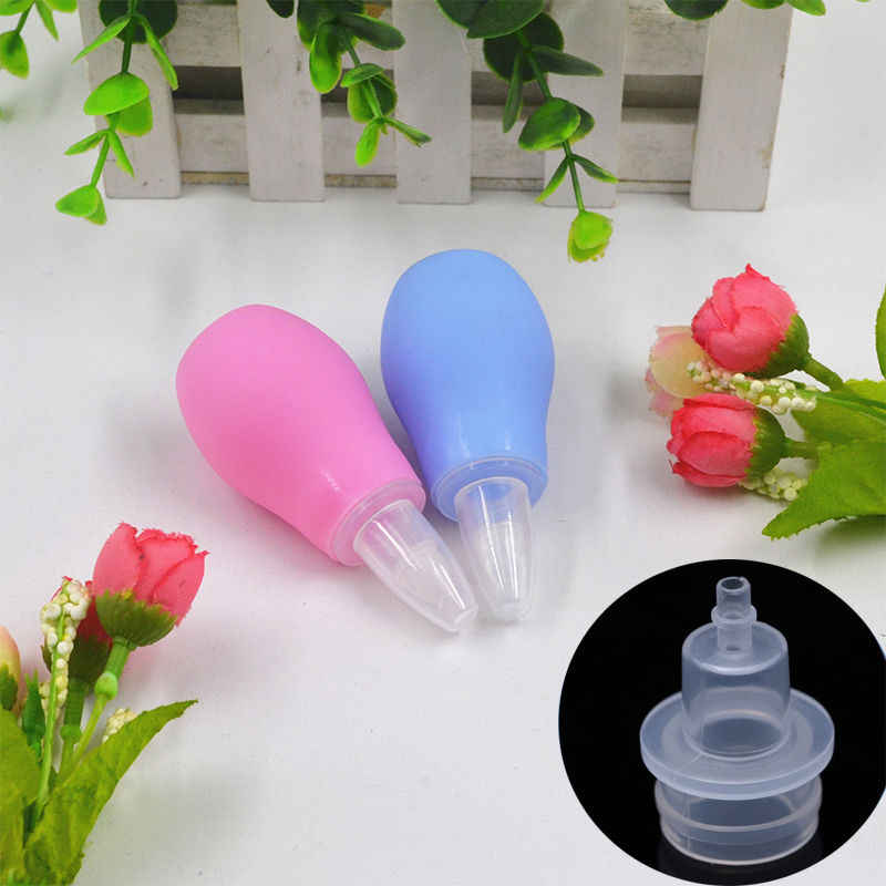 1pcs Newborn Silicone Baby Safety Nose Cleaner Vacuum Suction Children Nasal Aspirator New Baby Care Diagnostic Tool