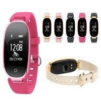 New S3 Fashion Smart Band Bracelet Girl Women Heart Rate Monitor Wrist Smartband Lady Female Fitness