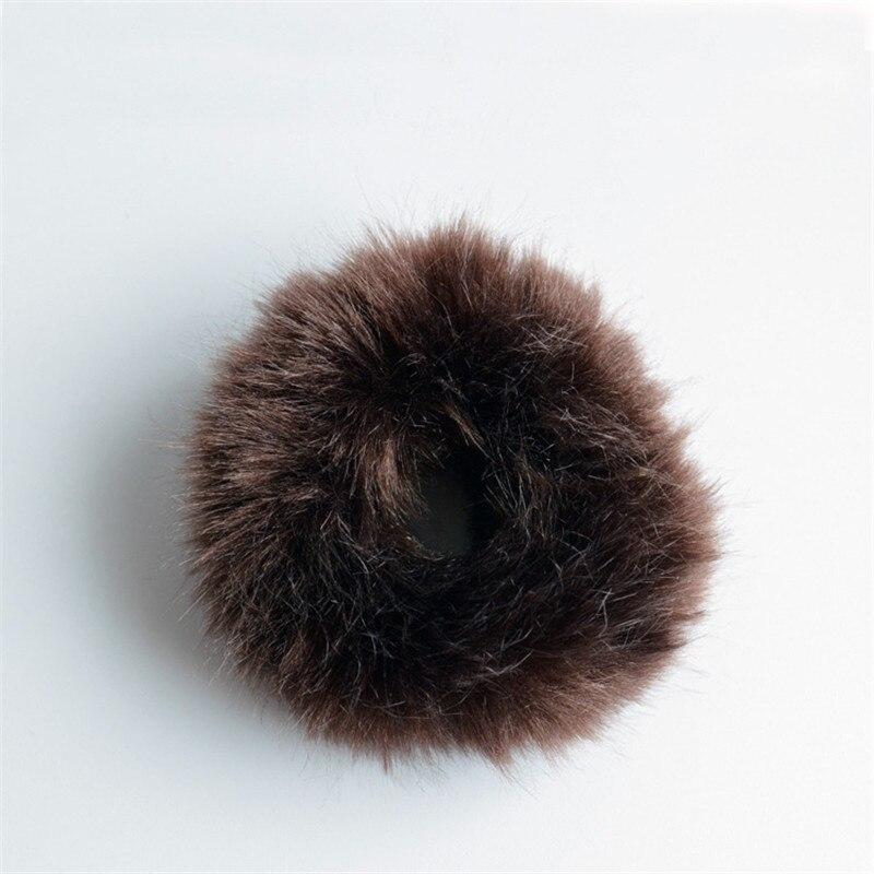 Резинки для волос резинка для волос Милые эластичные резинки для волос для девочек, искусственный мех, резиновое кольцо, веревка, пушистый бант аксессуары для волос, пушистая резинка на голову - Цвет: C9