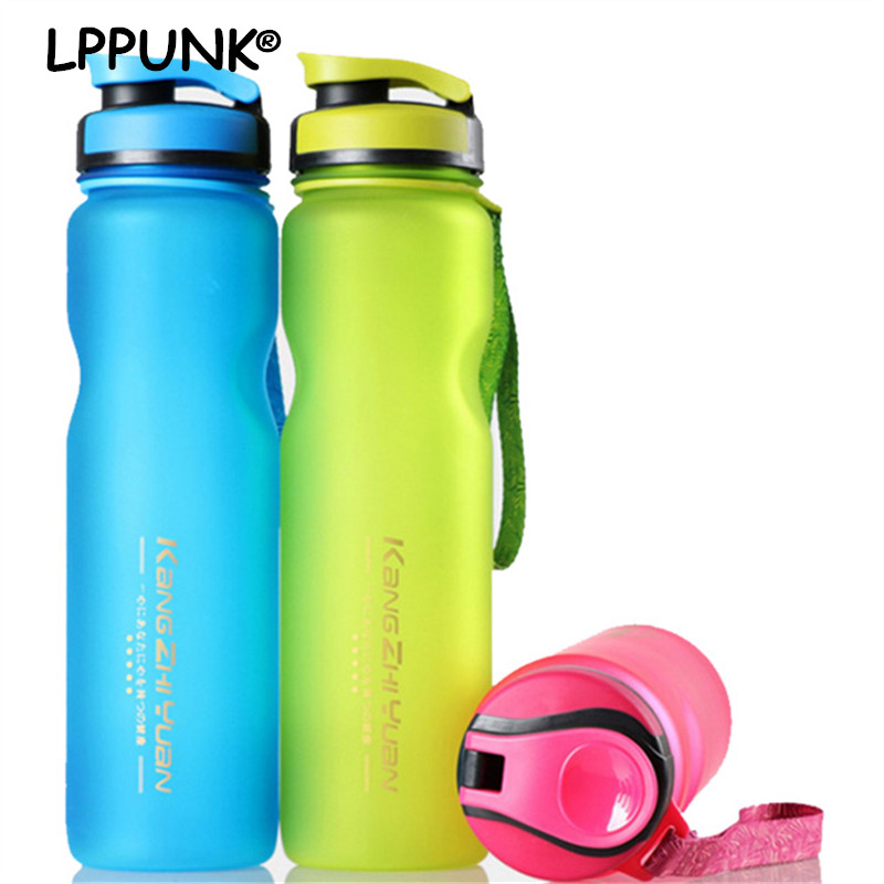 1L BPA Free portable Plastic Drinking tea infuser Water Bottles FROSTED Space Outdoor Sport bike fruit juice Bicycle Kettle