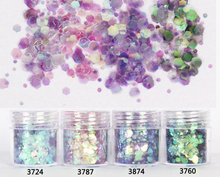 4pcs 10ml mixed  shiny glitter Powder, flakes for Epoxy Mold,Nail Glitter Sequins Powder For nail art decoration Jewelry