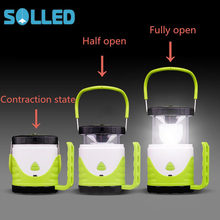 SOLLED LED Lantern Shape Changeable Camping Portable Light Outdoor Tent Light Portable Hand Lamp AA battery or 18650