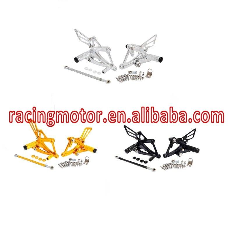CNC Adjustable Foot pegs Rearset Footrests Rear Sets For Honda CB400F CB500F CBR400R CBR500R 2013 2014 2015 2016 2017 morais r the hundred foot journey