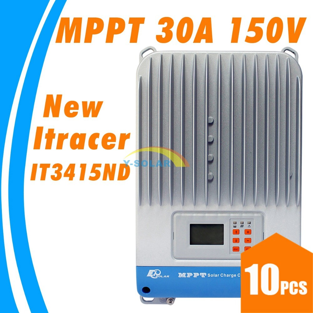 30A MPPT Epsolar Solar charge controller with LCD dispaly  Light and dual timer 12V 24V 36V 48V auto work Ep Solar ITracer3415ND mppt t40 40a solar charge regulator 12v 24v auto lcd display controller with load dual timer control for street light system