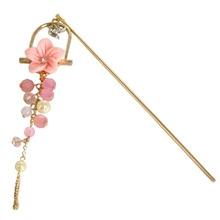 2019 New Hot Fashion Flower Pearl Long Japan And Korea Style Romantic Feautiful Women Jewelry Popular Hairwear 6737