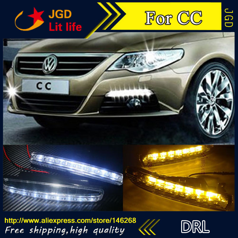 Free shipping ! 12V 6000k LED DRL Daytime running light for VW CC fog lamp frame Fog light Car styling free shipping dbaihuk golf clothing bags shoes bag double shoulder men s golf apparel bag