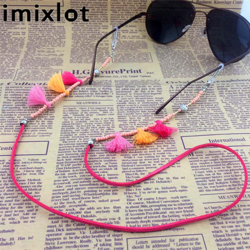 IMIXLOT High Quality Vintage Colorful Bead Eyeglass Chain For Women Sunglasses Reading Glasses Cord Holder Neck Strap Rope