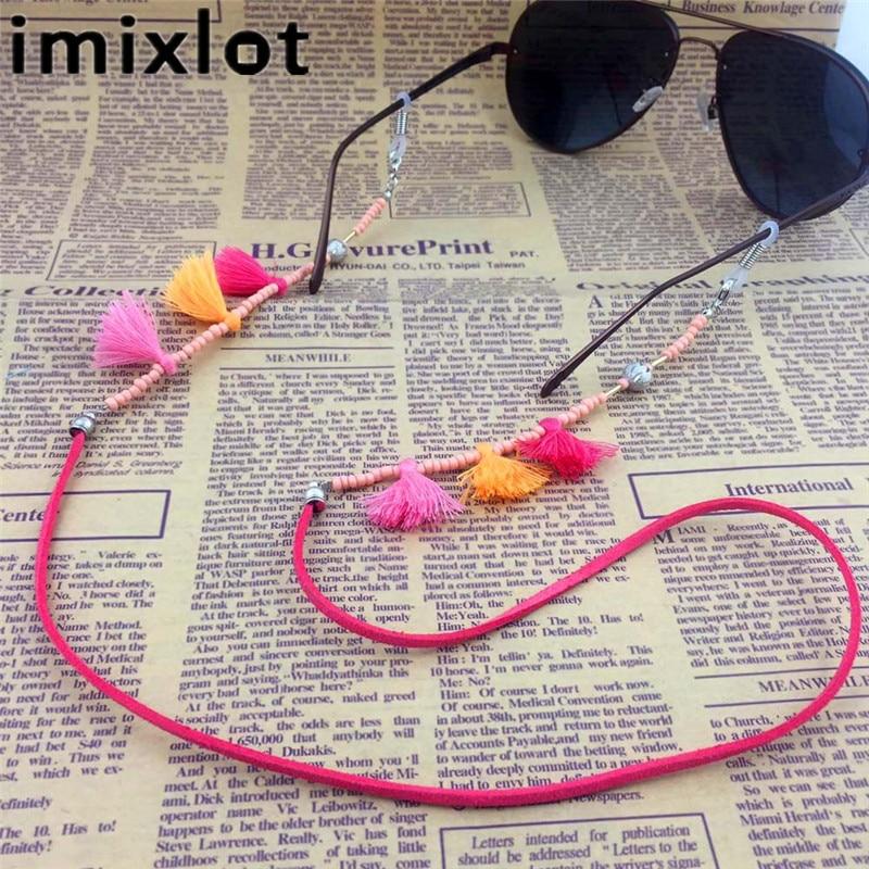 IMIXLOT høy kvalitet vintage fargerik perle eyeglass kjede for kvinner solbriller lesing briller ledning holder hals stropp tau