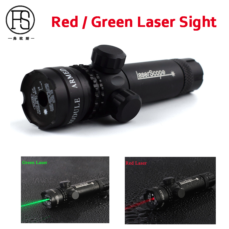 Military Shooting Rifle Red Green Laser Sight Scope For 20mm Rail Airsoft Tactical Rifle Laser Sight